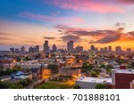 new orleans  louisiana downtown ... | Shutterstock . vector #701888101