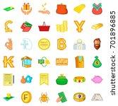 money heap icons set. cartoon... | Shutterstock .eps vector #701896885