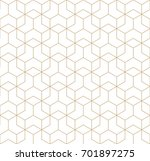 seamless geometric line grid... | Shutterstock .eps vector #701897275