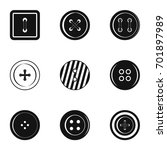 clothes button icon set. simple ... | Shutterstock .eps vector #701897989