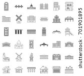 church icons set. outline style ... | Shutterstock .eps vector #701901895
