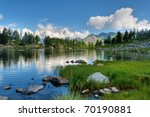 Summer View Of Arpy Lake Near...