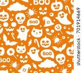 vector cute seamless halloween... | Shutterstock .eps vector #701914669