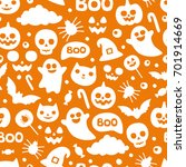 halloween pattern. funny... | Shutterstock .eps vector #701914669