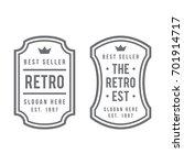 retro badge logo design | Shutterstock .eps vector #701914717