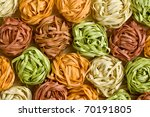 photo shot of colorful pasta... | Shutterstock . vector #70191805