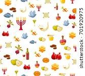rosh hashanah  shana tova or... | Shutterstock .eps vector #701920975