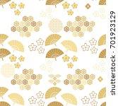 beautiful japanese seamless ...   Shutterstock .eps vector #701923129