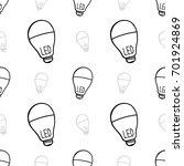 seamless led light blub... | Shutterstock .eps vector #701924869