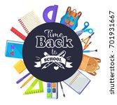 back to school round banner... | Shutterstock .eps vector #701931667