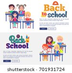 back to school collection of... | Shutterstock .eps vector #701931724