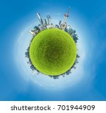 circle panorama of urban city... | Shutterstock . vector #701944909