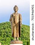 big bronze buddha statue in...   Shutterstock . vector #701946901