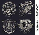 set of vintage custom... | Shutterstock . vector #701949409