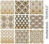 raster set seamless wallpaper...   Shutterstock . vector #70195117