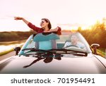 couple in love traveling by... | Shutterstock . vector #701954491