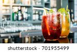 iced cocktails drinking glass... | Shutterstock . vector #701955499