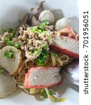 thai noodle  dry rice noodles... | Shutterstock . vector #701956051