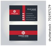 gray and red business card... | Shutterstock .eps vector #701957179