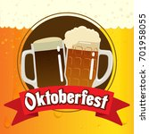 oktoberfest illustration for... | Shutterstock .eps vector #701958055