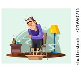 the man who was soaking his...   Shutterstock .eps vector #701960215