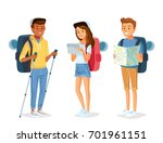 vector young people with... | Shutterstock .eps vector #701961151