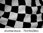 finish flag  wavy fabric flag ... | Shutterstock . vector #701962861