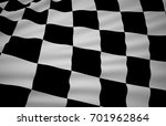 finish flag  wavy fabric flag ... | Shutterstock . vector #701962864