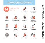 drug categories   set of vector ... | Shutterstock .eps vector #701968975