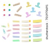 set of pin  clip and sticky  ...   Shutterstock .eps vector #701970691