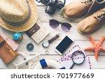 travel accessories costumes.... | Shutterstock . vector #701977669
