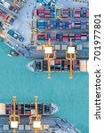 container ship in import export ...   Shutterstock . vector #701977801