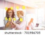 business women brainstorming... | Shutterstock . vector #701986705