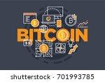 bitcoin digital currency.... | Shutterstock .eps vector #701993785