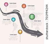 roadmap timeline infographics... | Shutterstock .eps vector #701994244