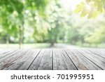 empty wooden table with party... | Shutterstock . vector #701995951