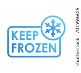 keep frozen with snowflake... | Shutterstock .eps vector #701996629