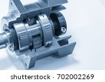 Small photo of The planetary gear in transmission gear box show the inside part.Automobile part.