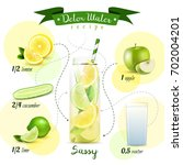 detox water recipe flowchart... | Shutterstock .eps vector #702004201