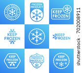set of keep frozen product...