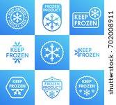 set of keep frozen product... | Shutterstock .eps vector #702008911