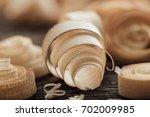 wood shavings on the carpenter... | Shutterstock . vector #702009985