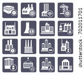 industry icon set vector | Shutterstock .eps vector #702011701