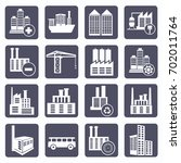 industry icon set vector | Shutterstock .eps vector #702011764