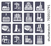 industry icon set vector | Shutterstock .eps vector #702011791