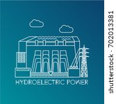 hydroelectric power station.... | Shutterstock .eps vector #702013381