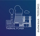 thermal power station. colorful ... | Shutterstock .eps vector #702013411