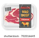 beef sealed pack | Shutterstock .eps vector #702016645