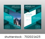 annual report brochure layout... | Shutterstock .eps vector #702021625