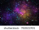 Bright Galaxy. Abstract Blue ...